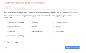 Asistente marcado datos estructurados GWT para posicionamiento web en Google
