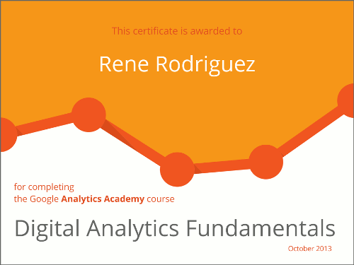 Digital Analytics Fundamentals. Rene Rodriguez